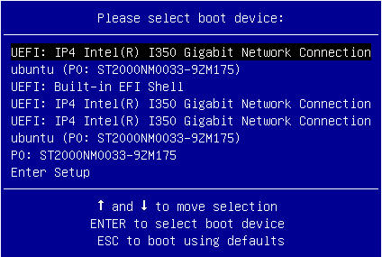 Mirantis Documentation: Configure PXE booting over UEFI